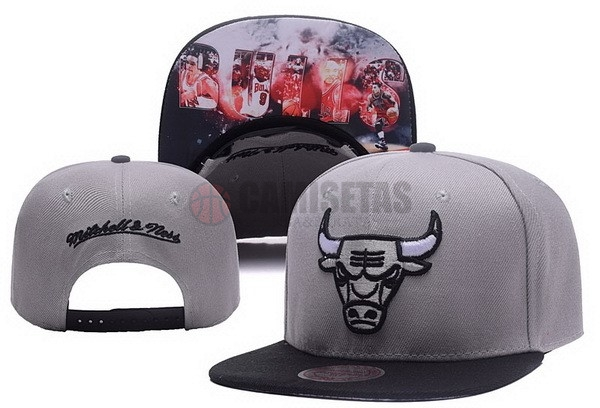 Gorros NBA 2017 Chicago Bulls Gris NO.05 Barats
