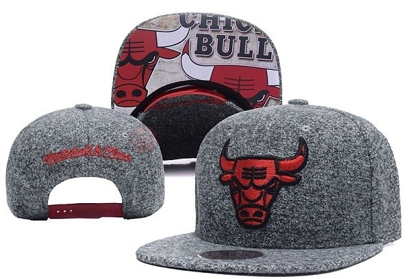 Gorros NBA 2017 Chicago Bulls Gris NO.06 Barats