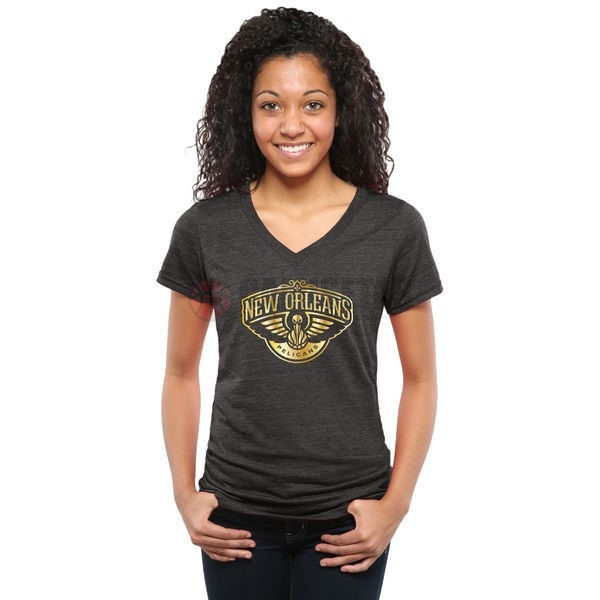 T-Shirt NBA Mujer New Orleans Pelicans Negro Oro Barats